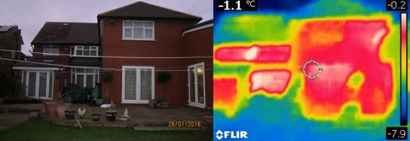 thermal image of member home