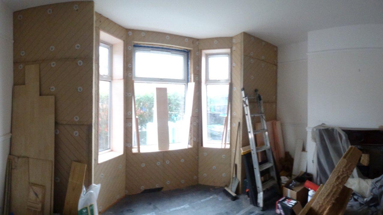 bay window insulation detail