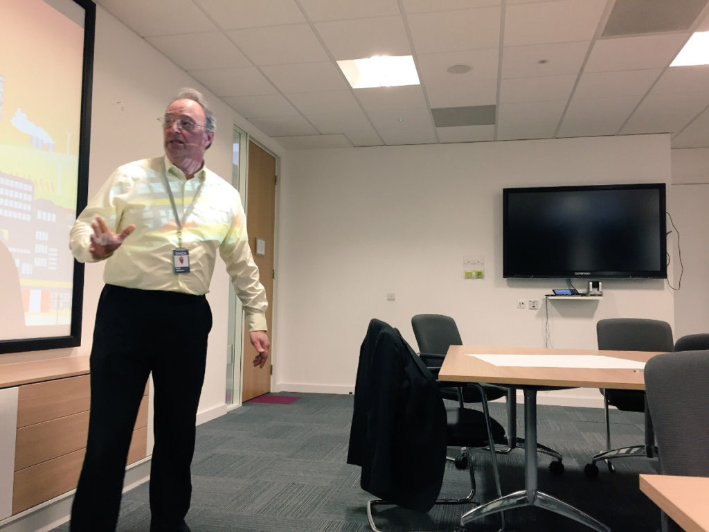 Mark Atherton of GM Low Carbon Hub presenting.