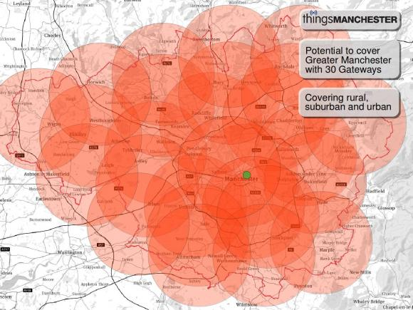 Nost of Manchester covered with access points